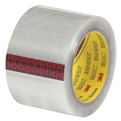 3M 3 x 110 yds. x 2.55 mil 313 Carton Sealing Tape,  Clear, 6/Pk