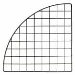 Mini Grid Corner, Black, 14, 30/Pack