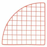 Mini Grid Corner, Red, 14