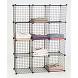 Mini Grid Shelf Unit, Black