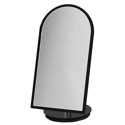 Counter Top Mirror, Black 7Wx14H Rotates 360 Degrees