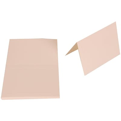 JAM Paper® Blank Foldover Cards, 4bar / A1 size, 3 1/2 x 4 7/8, 80lb Bright White Wove Panel, 25/pack (1745714)