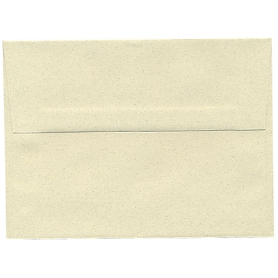 JAM Paper® A6 Invitation Envelopes, 4.75 x 6.5, Gypsum Ivory Recycled, 25/pack (41346)