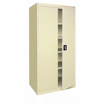Sandusky® Elite 72 x 36 x 18 Storage Cabinet With Adjustable Shelves, Putty