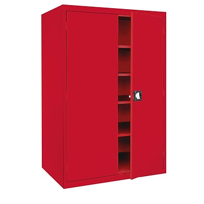 Sandusky® Elite 78 x 46 x 24 Storage Cabinet With Adjustable Shelves, Red