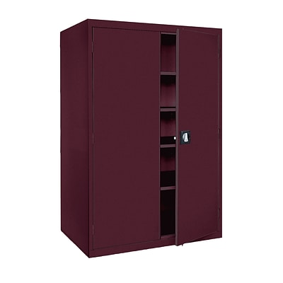 Sandusky® Elite 78 x 46 x 24 Storage Cabinet With Adjustable Shelves, Burgundy