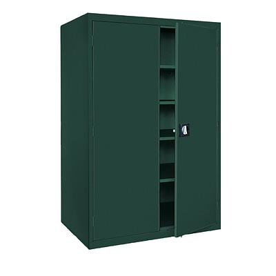 Sandusky® Elite 78 x 46 x 24 Storage Cabinet With Adjustable Shelves, Forest Green