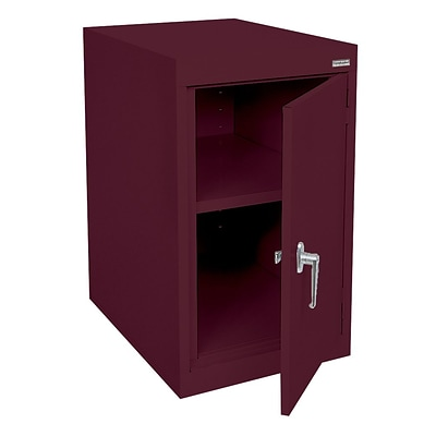 Sandusky® Elite 18 x 24 x 30 Desk Height Cabinet With Adjustable Shelves, Burgundy