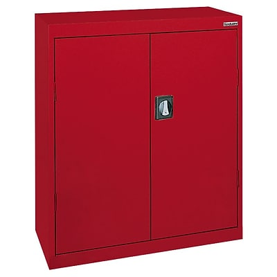 Sandusky® Elite 36 x 24 x 42 Counter Height Cabinet With Adjustable Shelves, Red