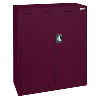 Sandusky® Elite 36 x 24 x 42 Counter Height Cabinet With Adjustable Shelves, Burgundy