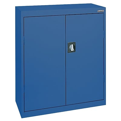 Sandusky® Elite 36 x 24 x 42 Counter Height Cabinet With Adjustable Shelves, Blue