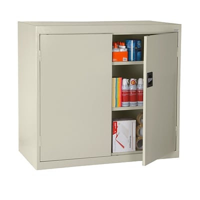 Sandusky® Elite 46 x 24 x 42 Counter Height Cabinet With Adjustable Shelves, Putty