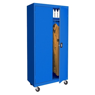 Sandusky® Elite 78 x 36 x 24 Transport Mobile Wardrobe Cabinet, Blue