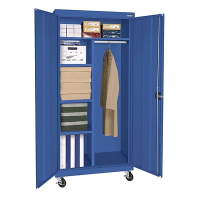 Sandusky® Elite 66 x 36 x 24 Transport Mobile Combination Cabinet, Blue