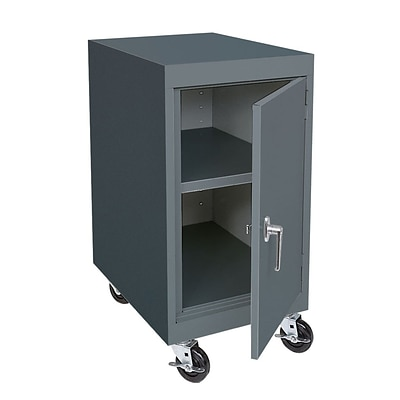 Sandusky® Elite 36 x 18 x 24 Transport Work Height Storage Cabinet, Charcoal