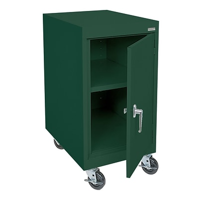 Sandusky® Elite 36 x 18 x 24 Transport Work Height Storage Cabinet, Forest Green