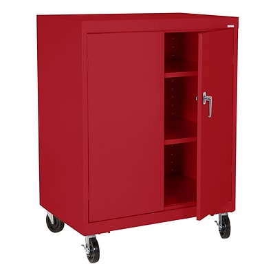 Sandusky® Elite 48 x 36 x 24 Transport Work Height Storage Cabinet, Red