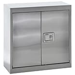 Sandusky® 30 x 12 x 30 Wall Storage Cabinet With Paddle Lock, Stainless Steel