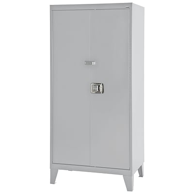 Sandusky® 36 x 24 x 79 Extra Heavy Duty Storage Cabinet, Dove Gray