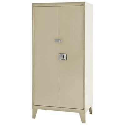 Sandusky® 46 x 18 x 79 Extra Heavy Duty Storage Cabinet, Putty