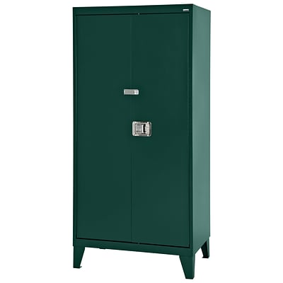 Sandusky® 46 x 24 x 79 Extra Heavy Duty Storage Cabinet, Forest Green