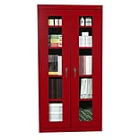 Sandusky® See Thru 36 x 24 x 78 Clearview Storage Cabinet, Red