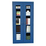 Sandusky® See Thru 36 x 24 x 78 Clearview Storage Cabinet, Blue