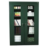 Sandusky® See Thru 46 x 18 x 72 Clearview Storage Cabinet, Forest Green