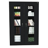 Sandusky® See Thru 46 x 24 x 78 Clearview Storage Cabinet, Black