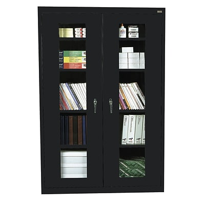 Sandusky® See Thru 46 x 18 x 72 Clearview Storage Cabinet, Black