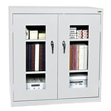 Sandusky® See Thru 46 x 24 x 42 Clearview Counter Height Storage Cabinet, Dove Gray