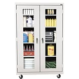 Sandusky® See Thru 46 x 24 x 78 Transport Mobile Clearview Storage Cabinet, Dove Gray