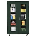 Sandusky® See Thru 46 x 24 x 78 Transport Mobile Clearview Storage Cabinet, Forest Green