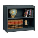 Sandusky® Elite 36 x 18 x 30 Radius Edge Steel Stationary Bookcase; Charcoal