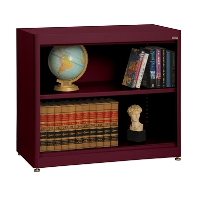 Sandusky® Elite 36 x 18 x 30 Radius Edge Steel Stationary Bookcase; Burgundy