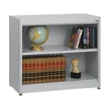 Sandusky® Elite 36 x 18 x 30 Radius Edge Steel Stationary Bookcase; Dove Gray
