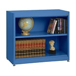 Sandusky® Elite 36 x 18 x 30 Radius Edge Steel Stationary Bookcase; Blue