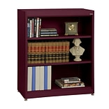 Sandusky® Elite 36 x 18 x 42 Steel Radius Edge Stationary Bookcase; Burgundy