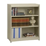Sandusky® Elite 36 x 18 x 42 Steel Radius Edge Stationary Bookcase; Putty