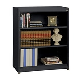 Sandusky® Elite 36 x 18 x 42 Steel Radius Edge Stationary Bookcase; Black