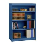 Sandusky® Elite 36 x 18 x 52 Steel Radius Edge Stationary Bookcase; Blue