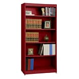 Sandusky® Elite 36 x 18 x 72 Steel Radius Edge Stationary Bookcase; Red