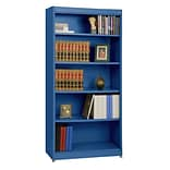 Sandusky® Elite 36 x 18 x 72 Steel Radius Edge Stationary Bookcase; Blue