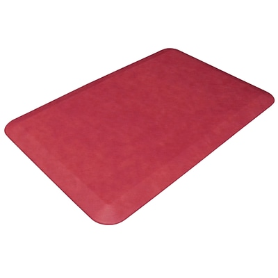 NewLife by GelPro Designer Comfort Standing Mat: 20x32: Leather Grain Cranberry