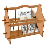 Ore International® 14 Wood Magazine Rack, Light Brown