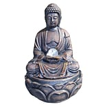 Ore International® Buddha Fountain With Crystal, Brown