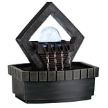 Ore International® Meditation Fountain With LED Light, Green Earth Tone