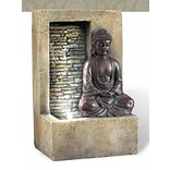 Ore International® Buddah Table Top Fountain, Stone White