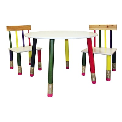 Ore International® Kids Table, 3 Piece, White
