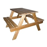 Ore International® Wood Kids Indoor and Outdoor Picnic Table, Light Brown
